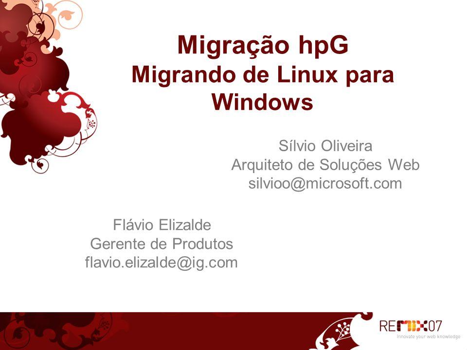 Migração hpG Migrando de Linux para Windows