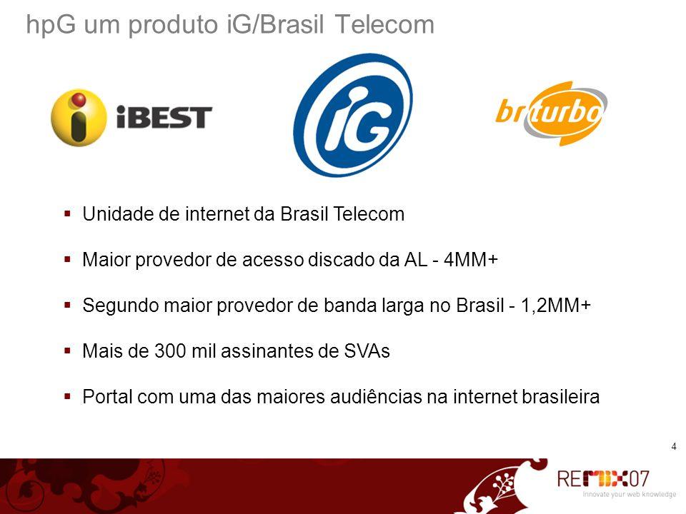 hpG um produto iG/Brasil Telecom
