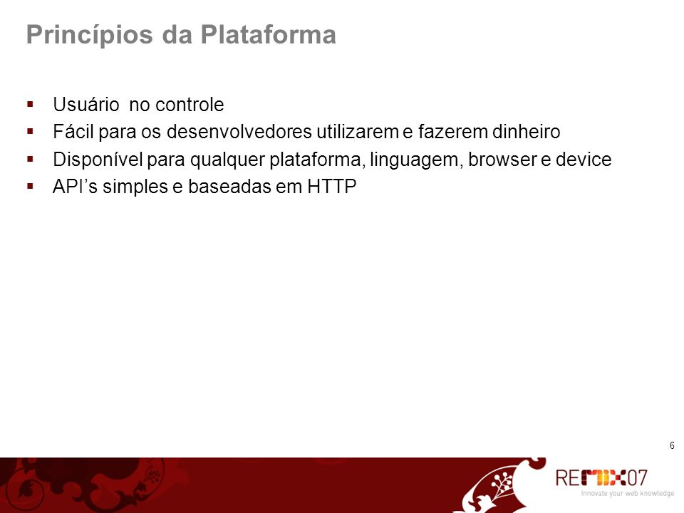 Princípios da Plataforma
