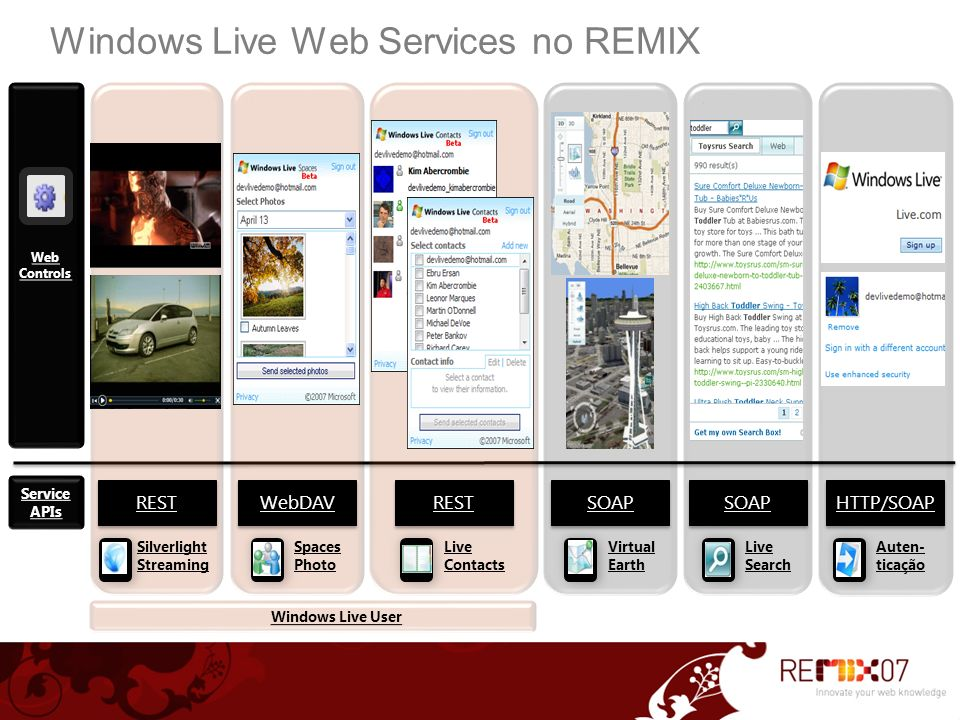 Windows Live Web Services no REMIX