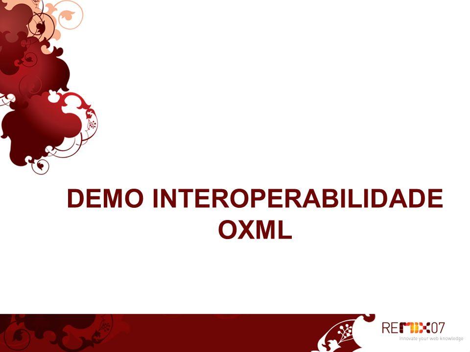 DEMO INTEROPERABILIDADE OXML