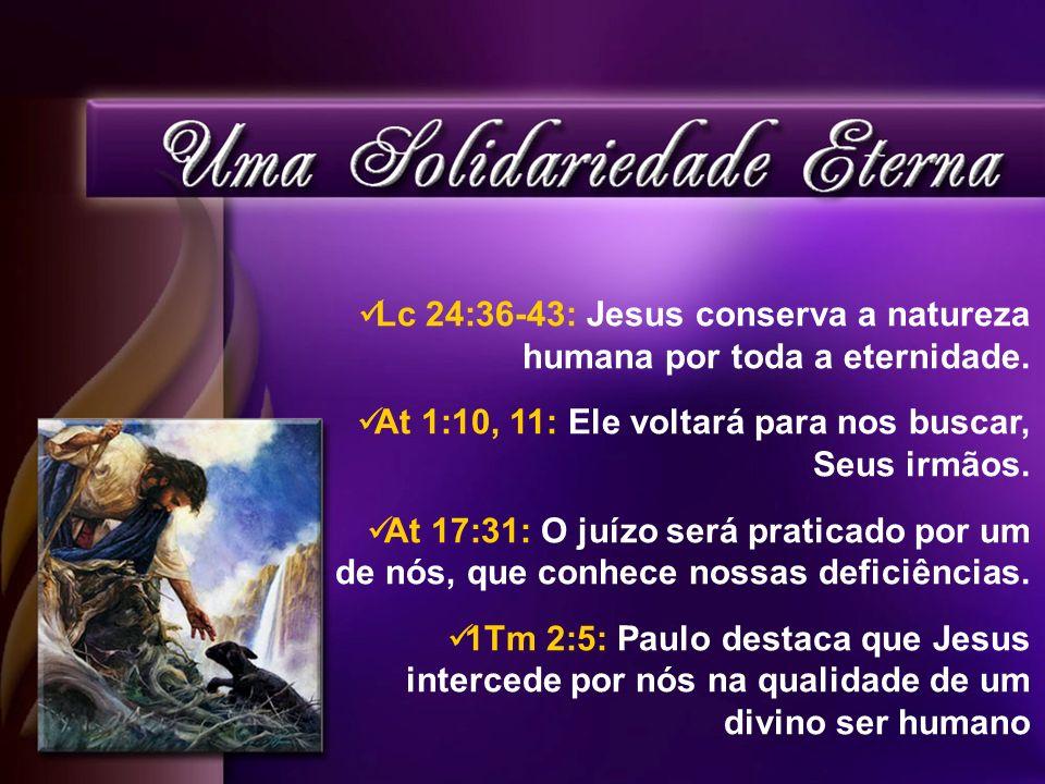 Lc 24:36-43: Jesus conserva a natureza humana por toda a eternidade.