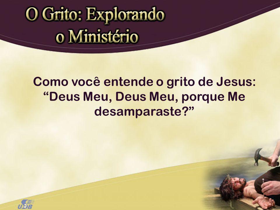 Como você entende o grito de Jesus: Deus Meu, Deus Meu, porque Me desamparaste
