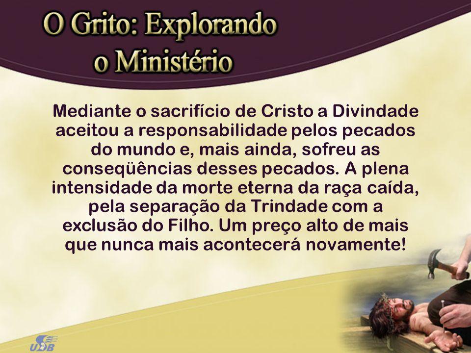 Mediante o sacrifício de Cristo a Divindade aceitou a responsabilidade pelos pecados do mundo e, mais ainda, sofreu as conseqüências desses pecados.