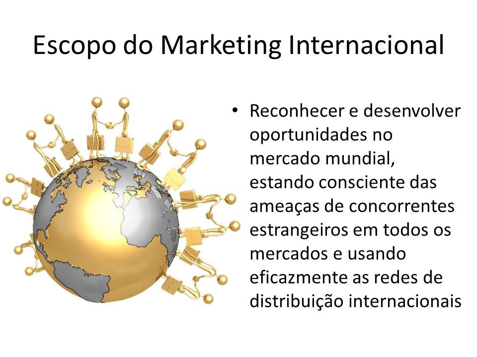 Escopo do Marketing Internacional