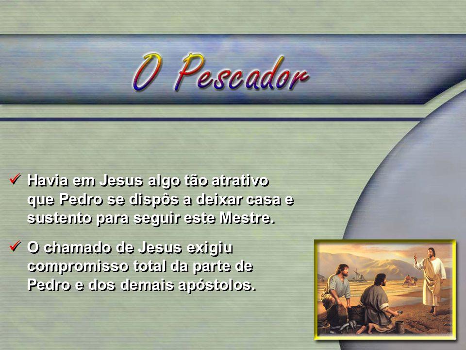 Havia em Jesus algo tão atrativo que Pedro se dispôs a deixar casa e sustento para seguir este Mestre.
