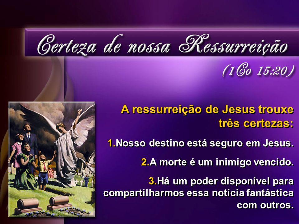 A ressurreição de Jesus trouxe três certezas: