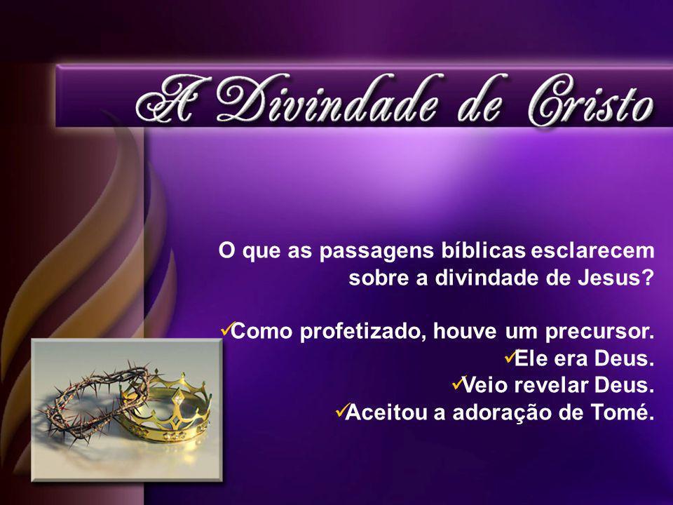 O que as passagens bíblicas esclarecem sobre a divindade de Jesus