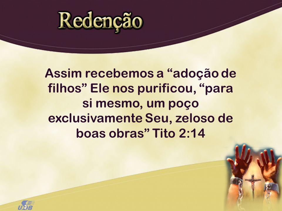 Assim recebemos a adoção de filhos Ele nos purificou, para si mesmo, um poço exclusivamente Seu, zeloso de boas obras Tito 2:14