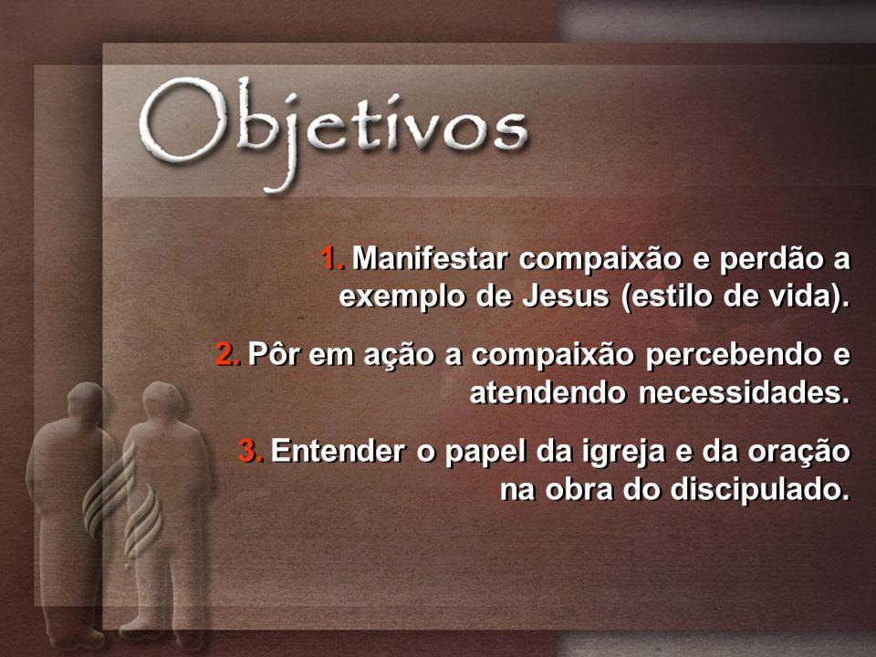 Manifestar compaixão e perdão a exemplo de Jesus (estilo de vida).