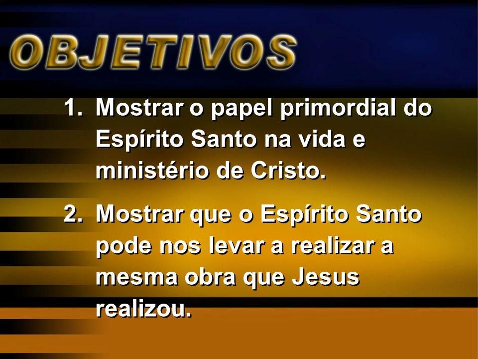 Mostrar o papel primordial do Espírito Santo na vida e ministério de Cristo.