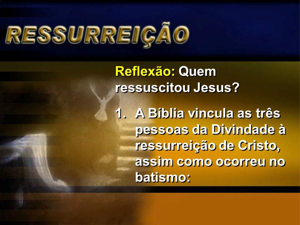 Reflexão: Quem ressuscitou Jesus