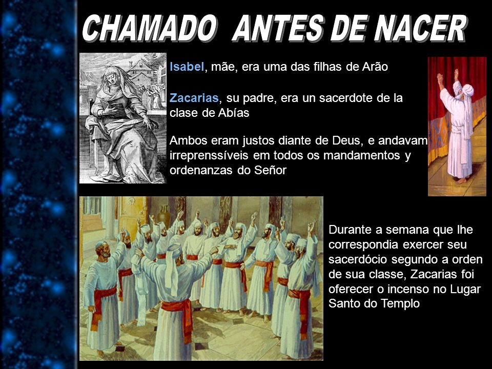 CHAMADO ANTES DE NACER Isabel, mãe, era uma das filhas de Arão