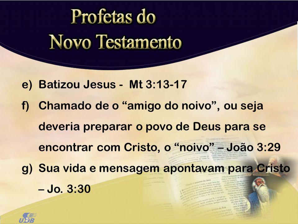 Batizou Jesus - Mt 3:13-17