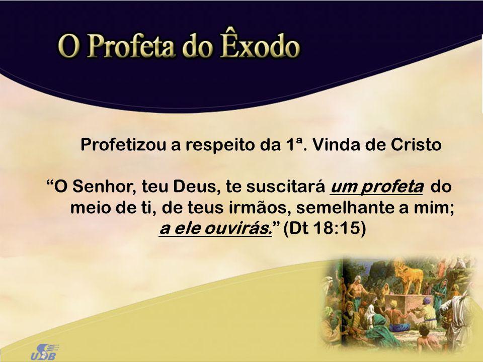 Profetizou a respeito da 1ª. Vinda de Cristo