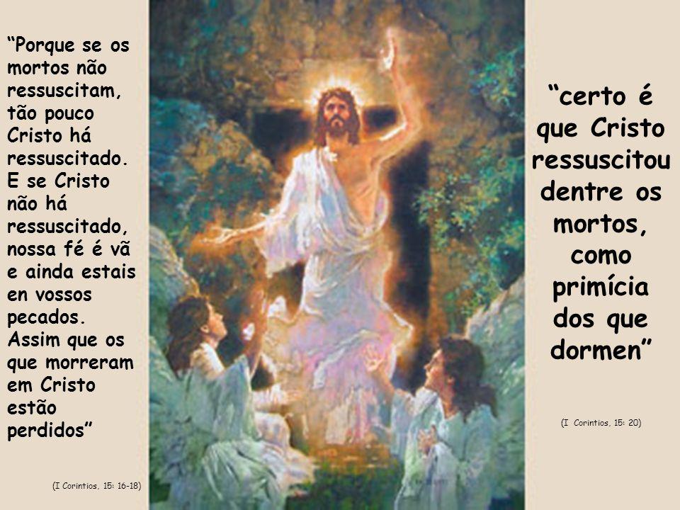 Porque se os mortos não ressuscitam, tão pouco Cristo há ressuscitado
