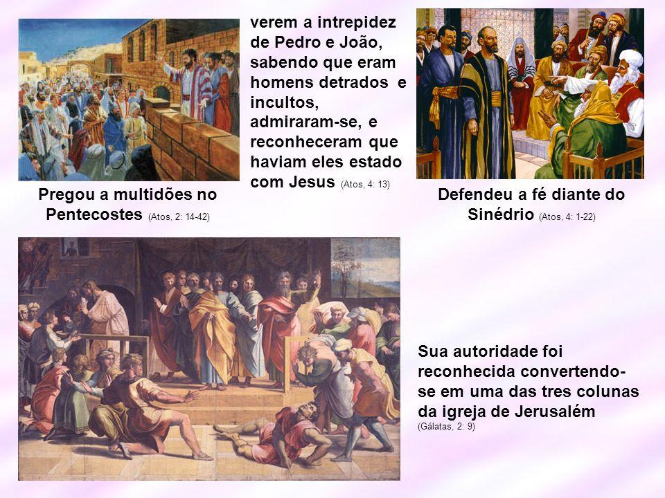 Pregou a multidões no Pentecostes (Atos, 2: 14-42)