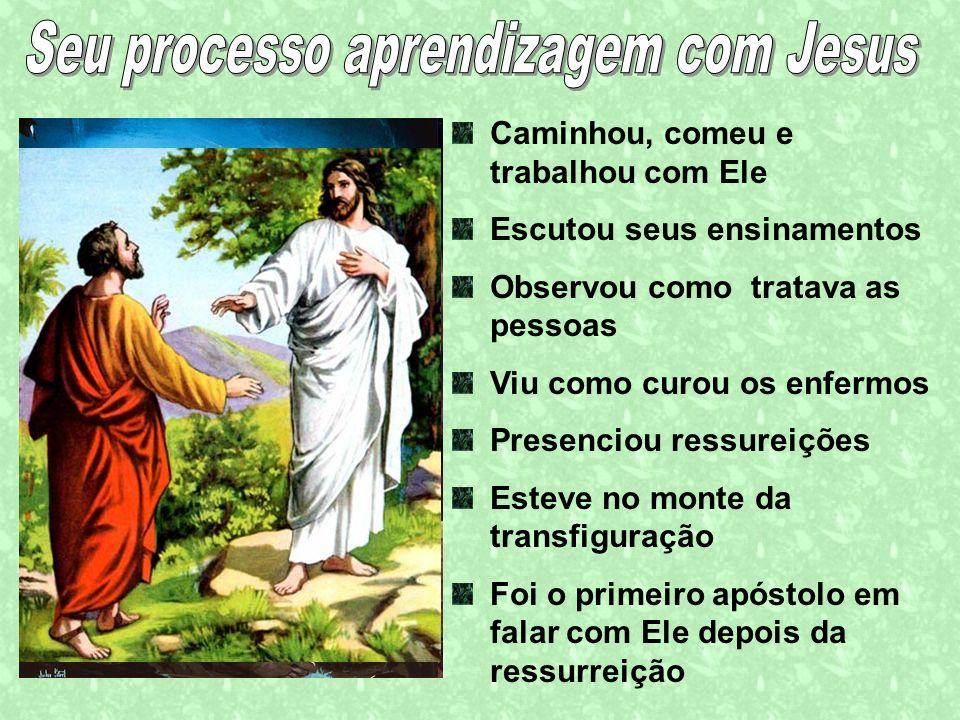 Seu processo aprendizagem com Jesus