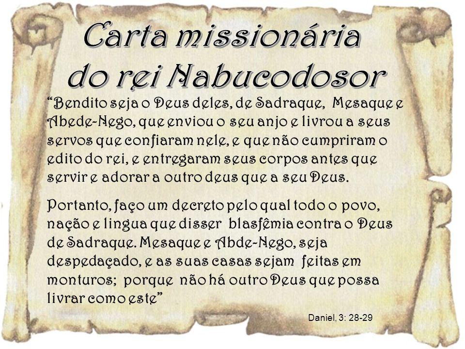 Carta missionária do rei Nabucodosor
