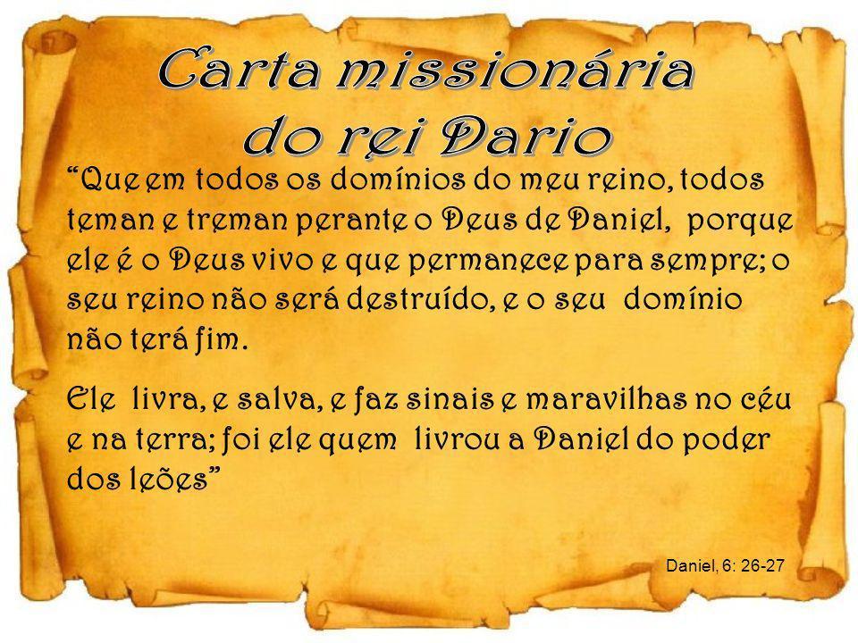 Carta missionária do rei Dario