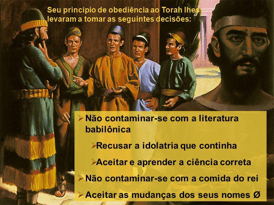 Não contaminar-se com a literatura babilônica