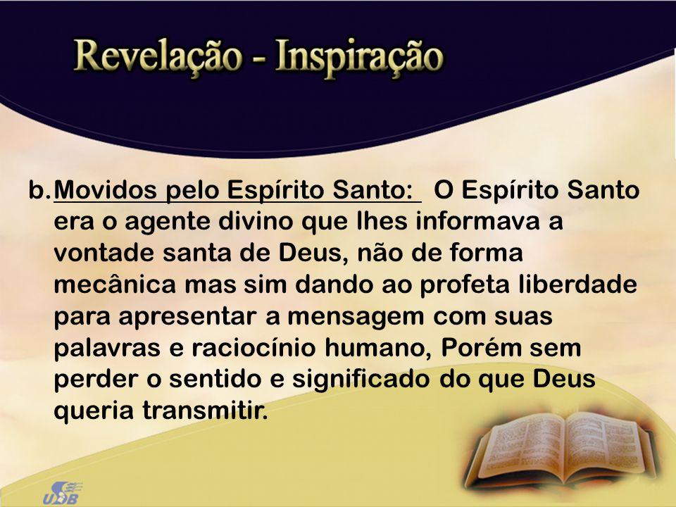 Movidos pelo Espírito Santo: