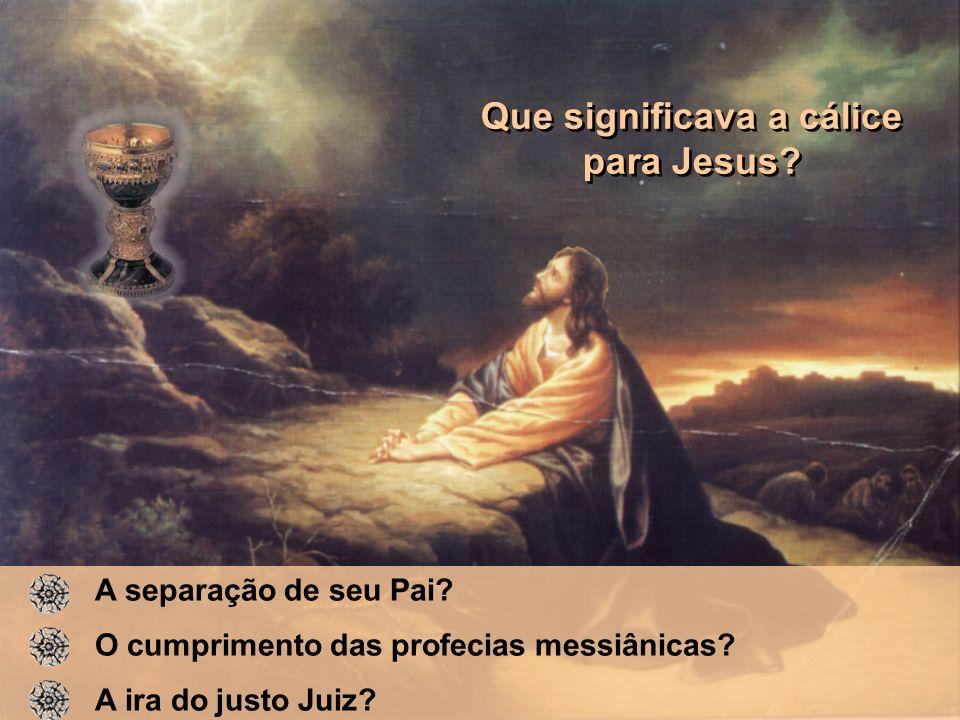 Que significava a cálice para Jesus