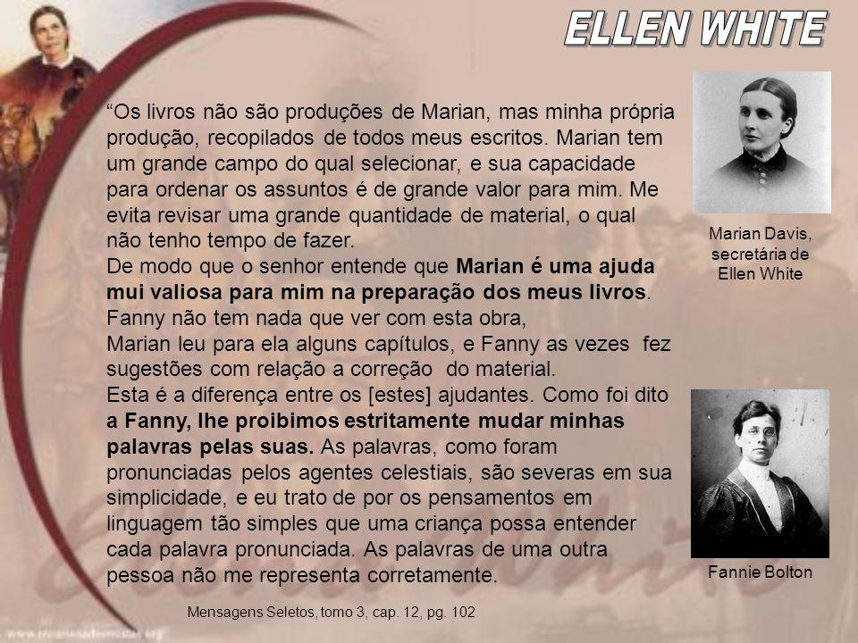 Marian Davis, secretária de Ellen White