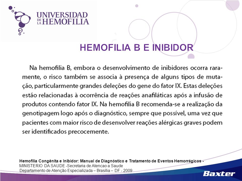 HEMOFILIA B E INIBIDOR