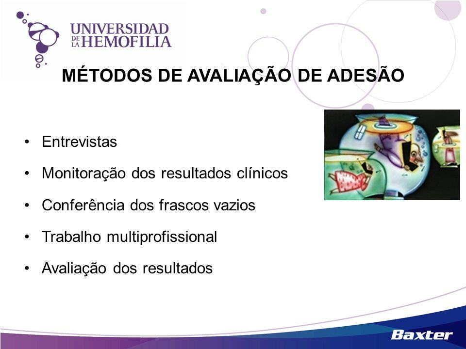MÉTODOS DE AVALIAÇÃO DE ADESÃO