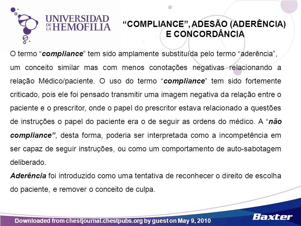COMPLIANCE , ADESÃO (ADERÊNCIA)