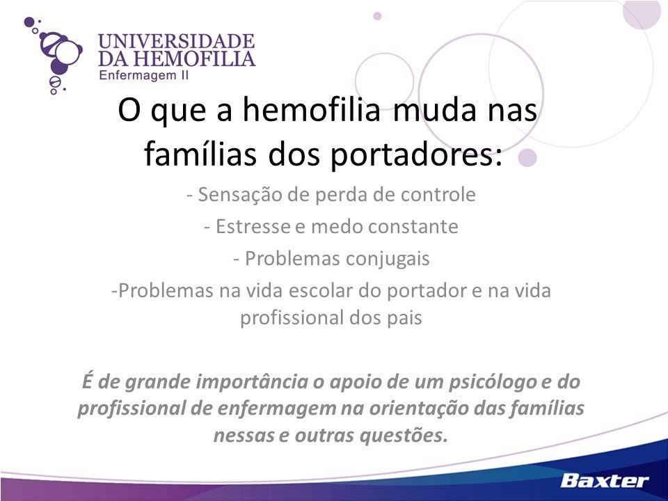 O que a hemofilia muda nas famílias dos portadores: