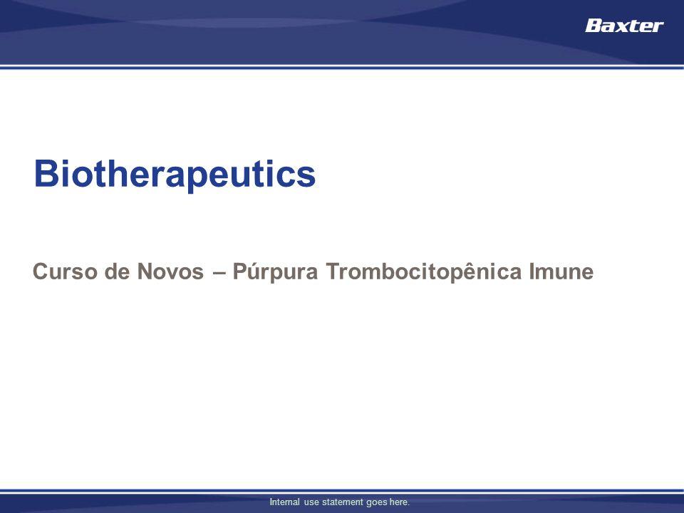 Curso de Novos – Púrpura Trombocitopênica Imune