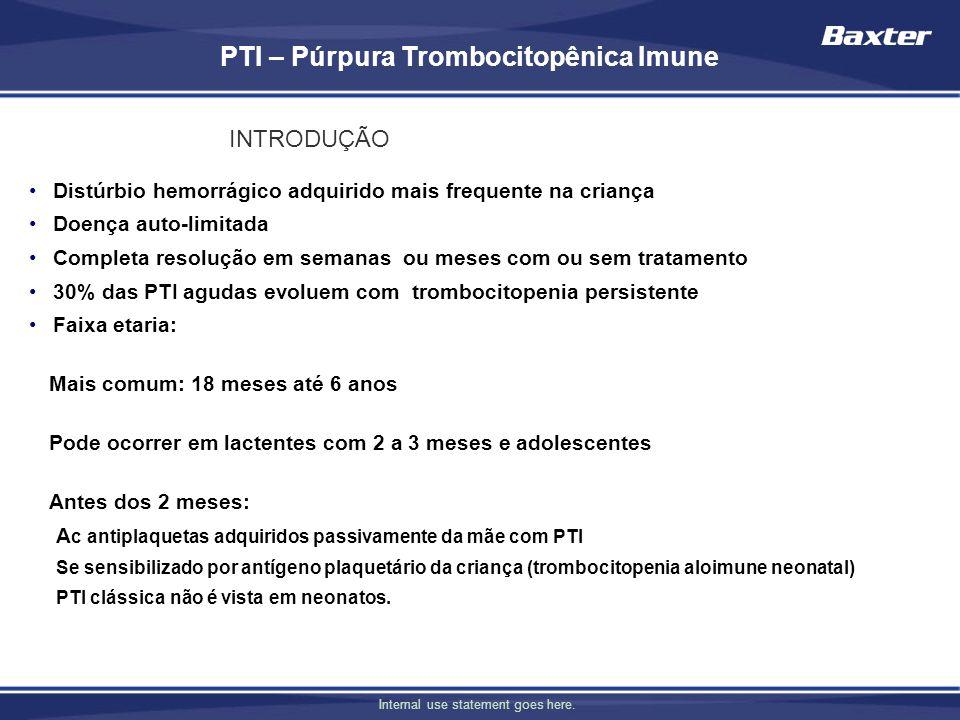 PTI – Púrpura Trombocitopênica Imune