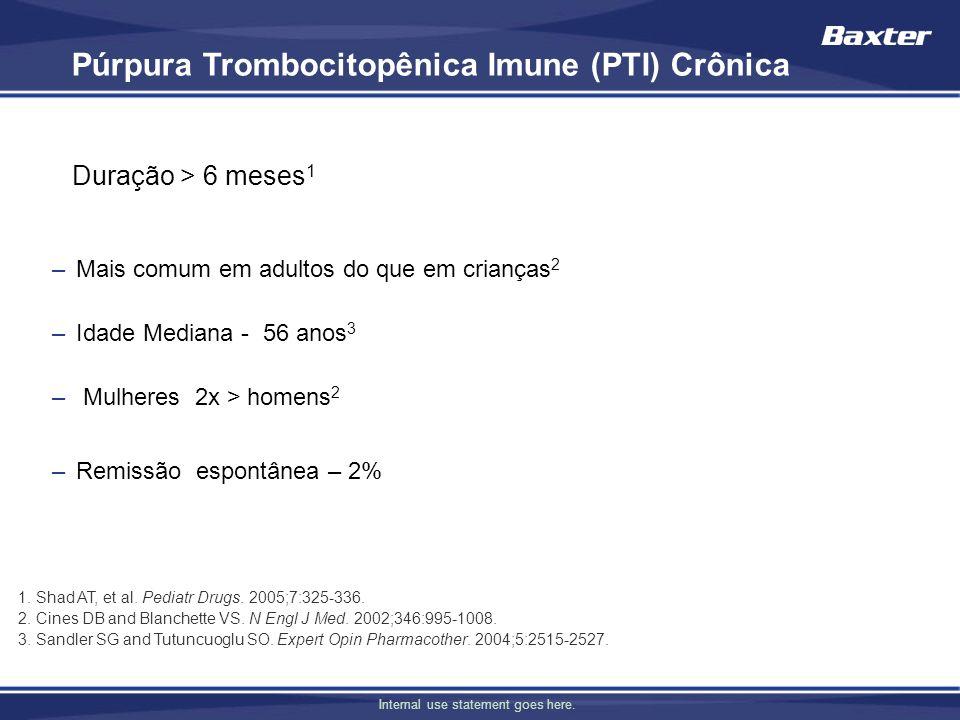 Púrpura Trombocitopênica Imune (PTI) Crônica