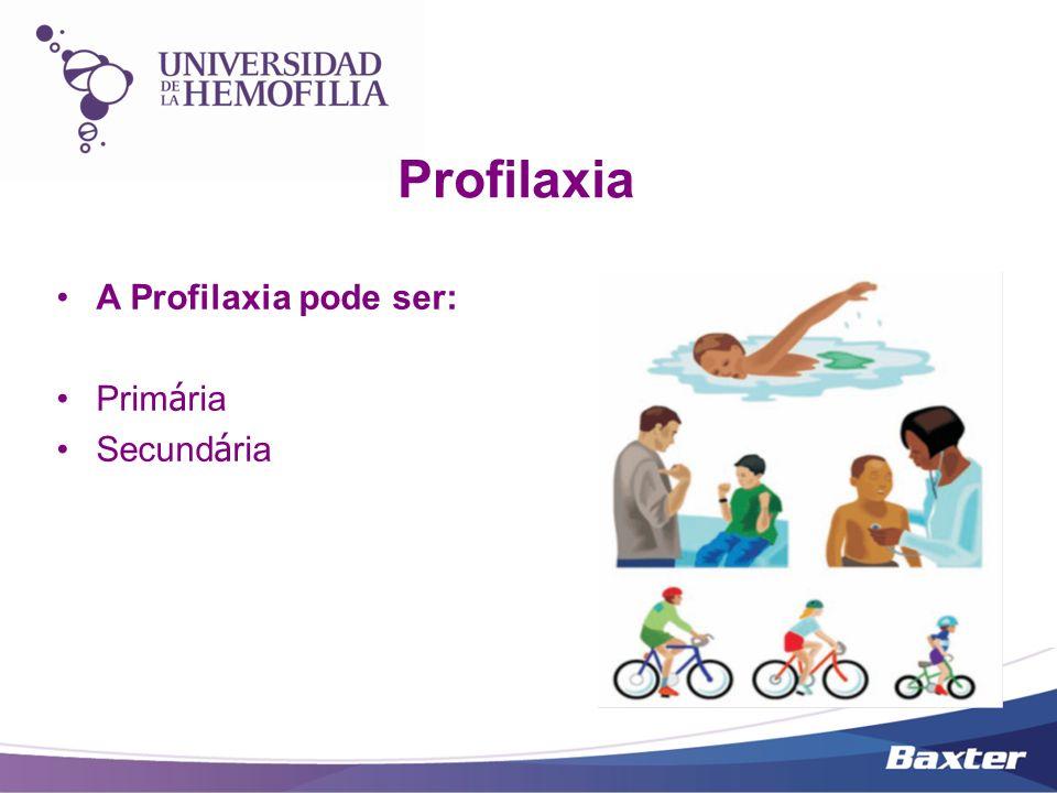 Profilaxia A Profilaxia pode ser: Primária Secundária