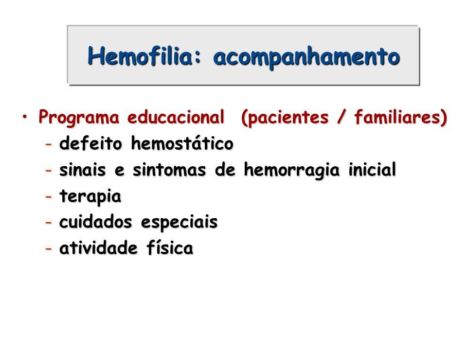 Hemofilia: acompanhamento