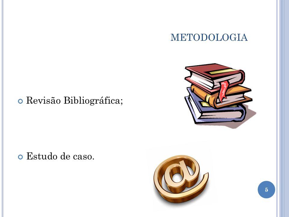 metodologia Revisão Bibliográfica; Estudo de caso.