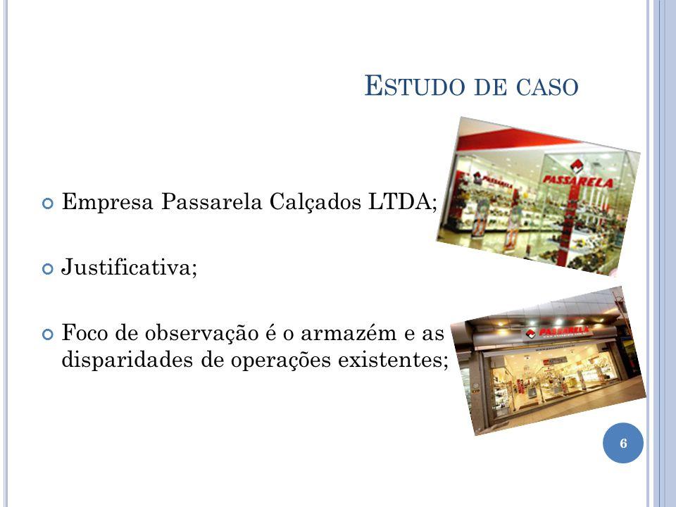 Estudo de caso Empresa Passarela Calçados LTDA; Justificativa;