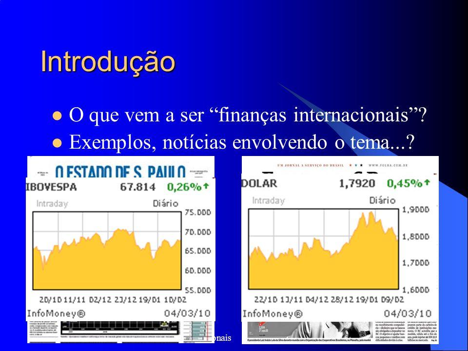 Introdução O que vem a ser finanças internacionais