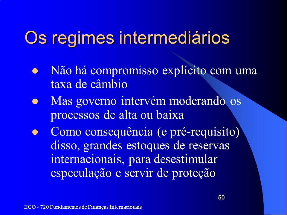 Os regimes intermediários