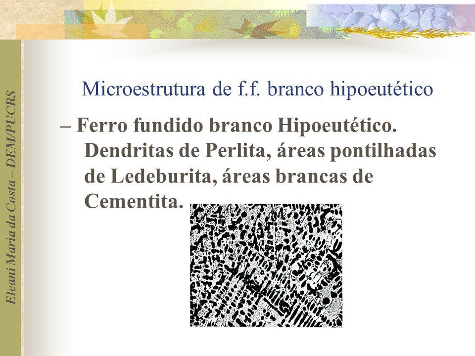 Microestrutura de f.f. branco hipoeutético