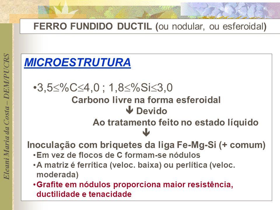 MICROESTRUTURA 3,5%C4,0 ; 1,8%Si3,0