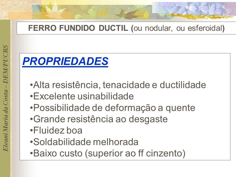 FERRO FUNDIDO DUCTIL (ou nodular, ou esferoidal)