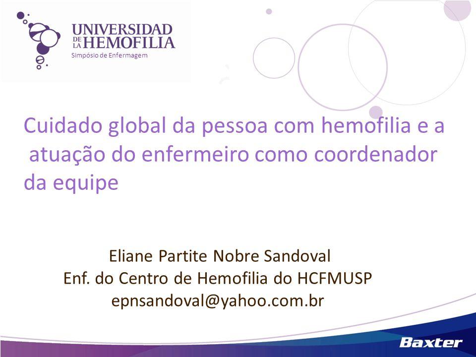 Cuidado global da pessoa com hemofilia e a