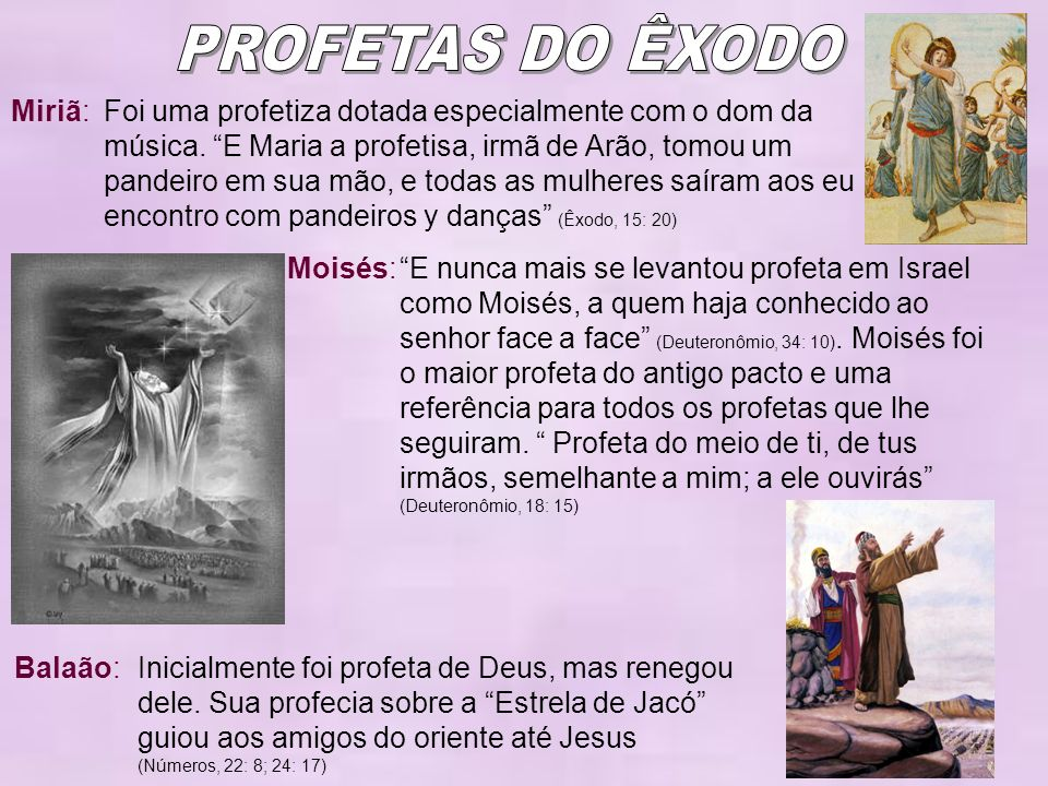 PROFETAS DO ÊXODO