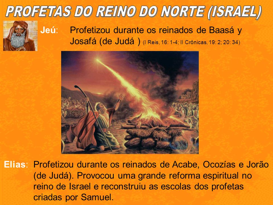 PROFETAS DO REINO DO NORTE (ISRAEL)