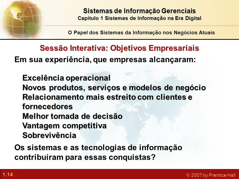 Sessão Interativa: Objetivos Empresariais