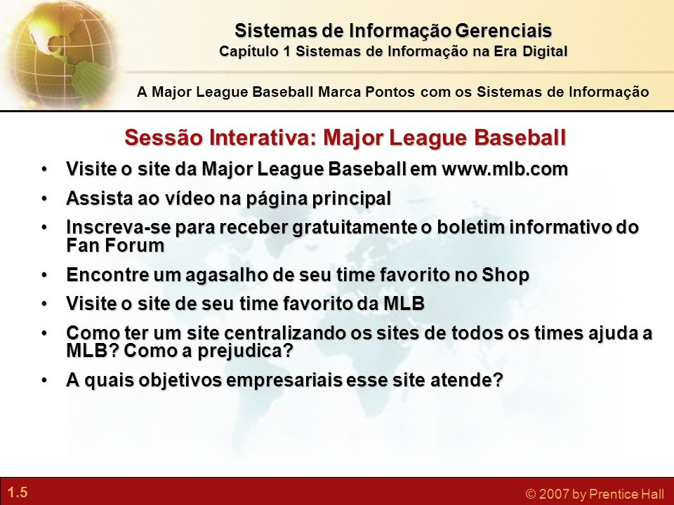 Sessão Interativa: Major League Baseball