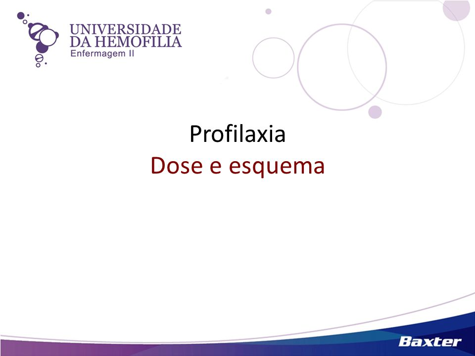 Profilaxia Dose e esquema